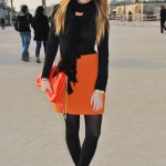 Paris Fashion Week…first day. Orange for Barbara Bui