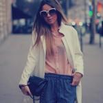 Pijama shorts & White coat… at Paris Fashion Week