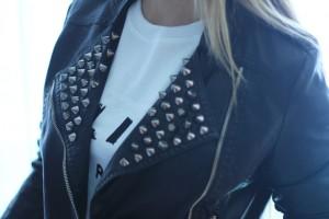 Studded perfecto jacket, blogger, Mes Voyages à Paris, Fashion Salade