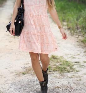 Vestido verano con botas