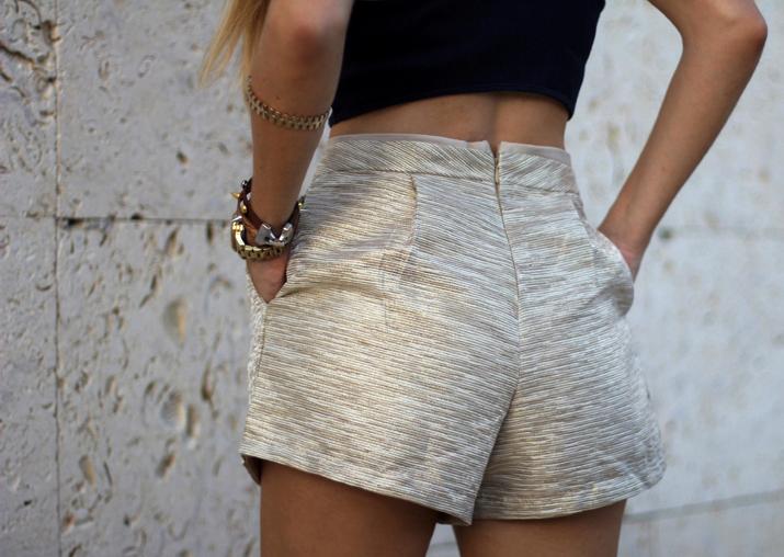 Golden shorts fashion trends summer 2013 (2)1
