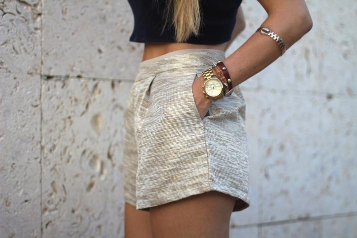 Golden shorts fashion trends summer 2013 (3)
