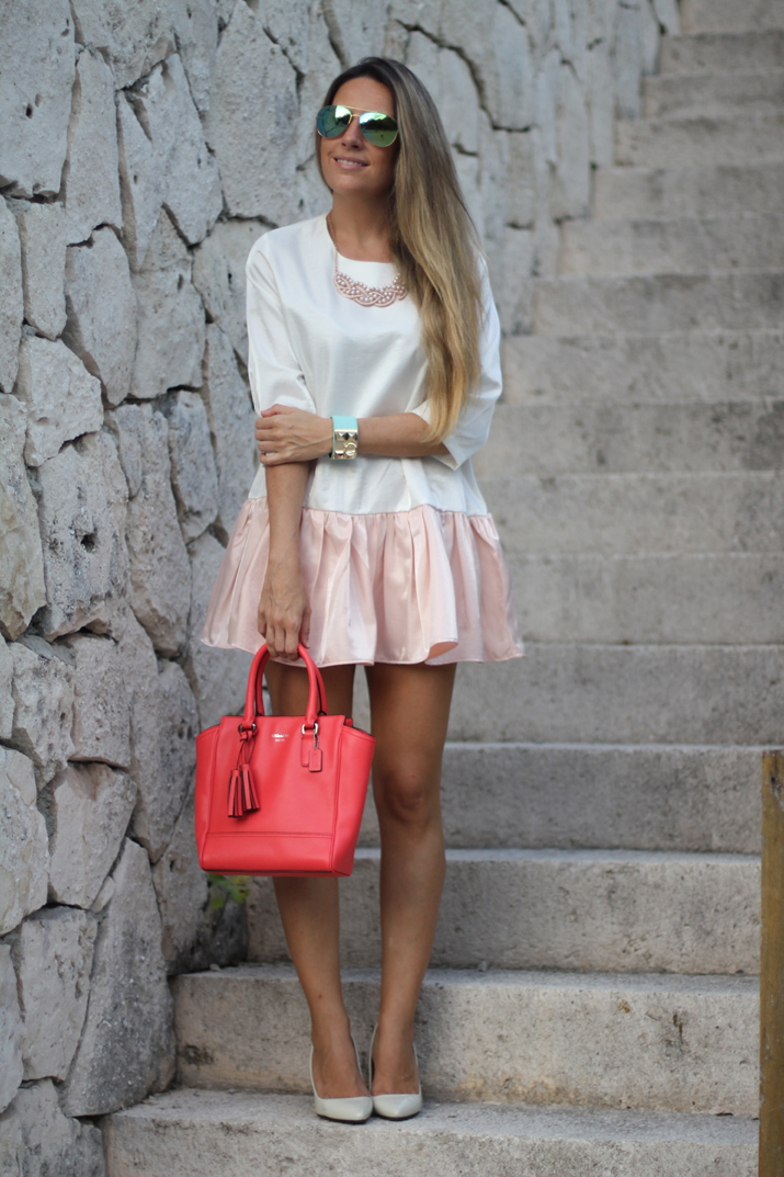 Summer night outfit: white dress