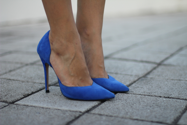Blue cobalt shoes