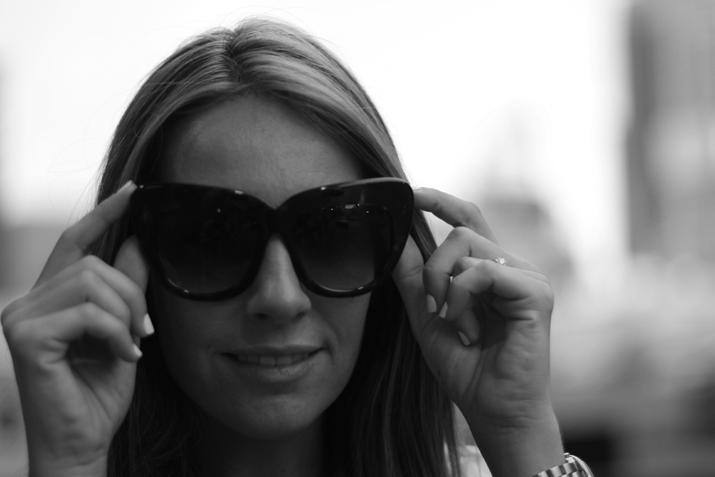 zero uv cateye sunglasses by monica sors