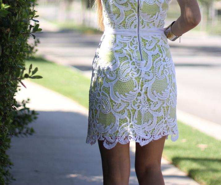 Revolve Lace little white dress fashion blog Mes Voyages a Paris by Monica Sors (4)