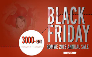 Black friday romwe