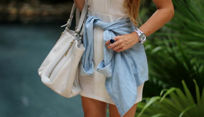 Camisa anudada cintura bloguera de moda mexico (1)