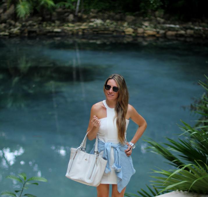 Camisa anudada cintura bloguera de moda mexico (2)