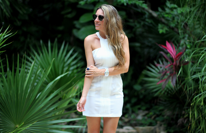 Fashion blogger white little dress (2)