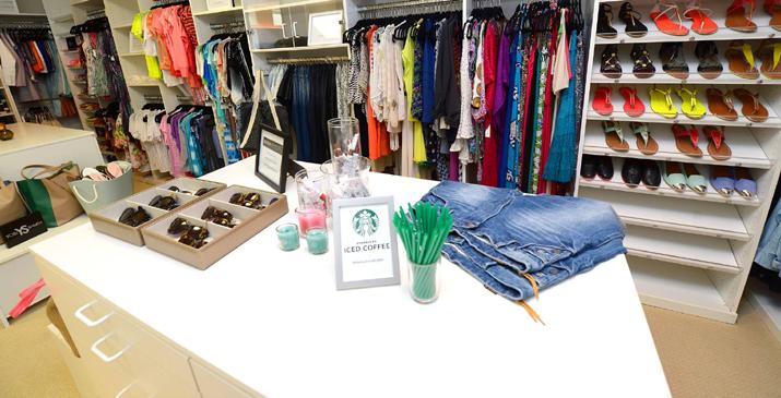 Revolve Clothing closet Malibu Beach House