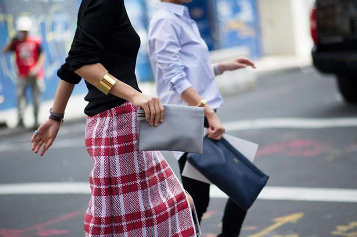 Midi skirt tartan