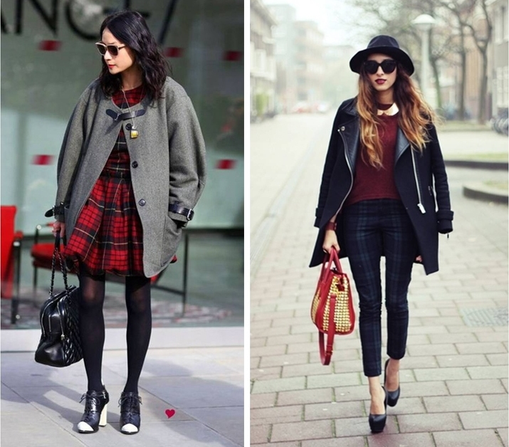 Ideas looks tartan invierno 2013