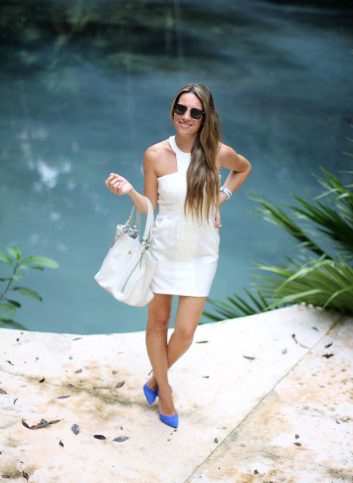 little white dress blogger