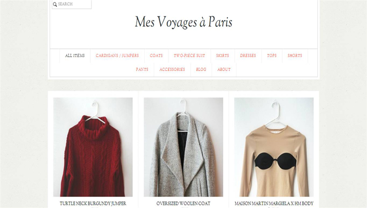 shop fashion blogger closet Mes Voyages a Paris