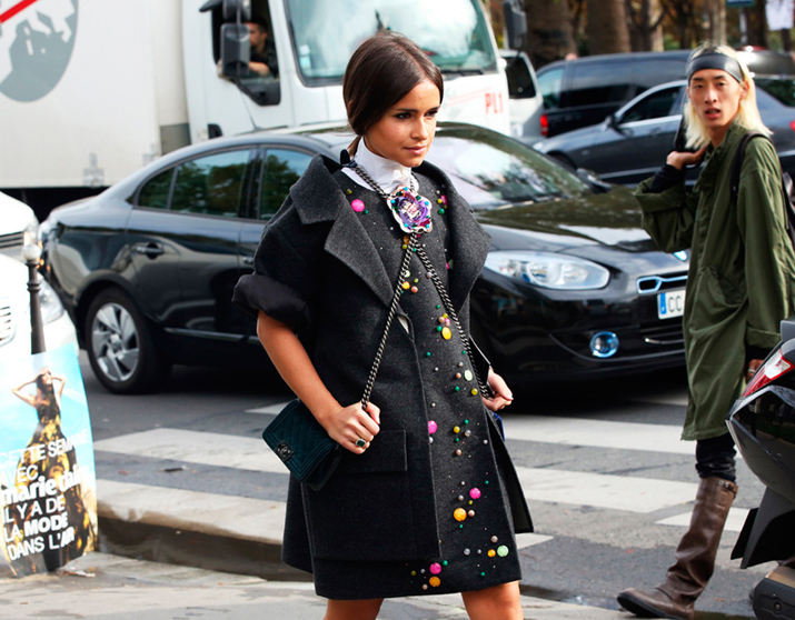 Miroslava Duma double bag