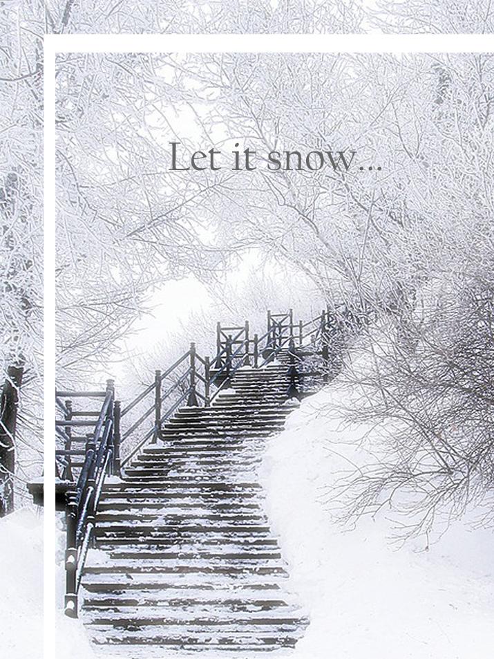 white christmas postcard blog