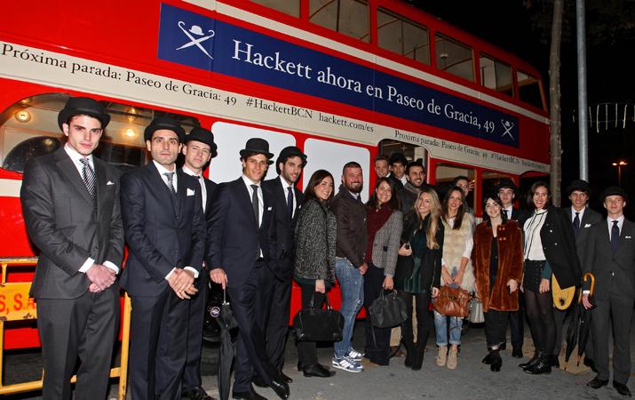 London bus Hackett en Barcelona