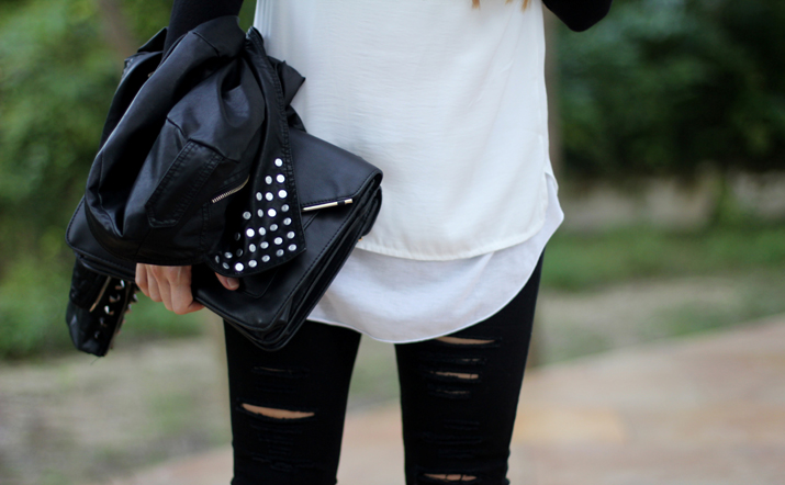 Ripped skinny jeans blogger (1)