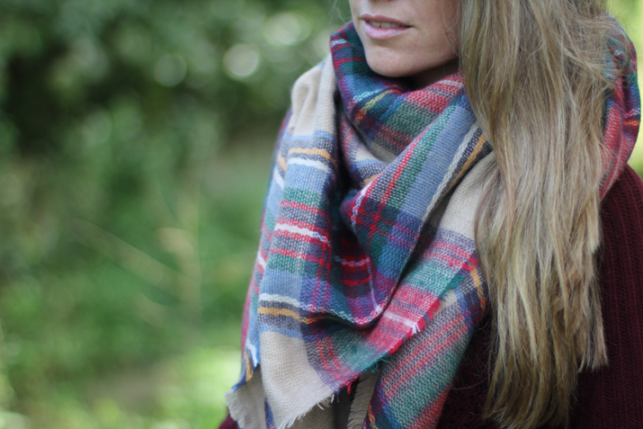 Tartan scarf Zara blogger (2)