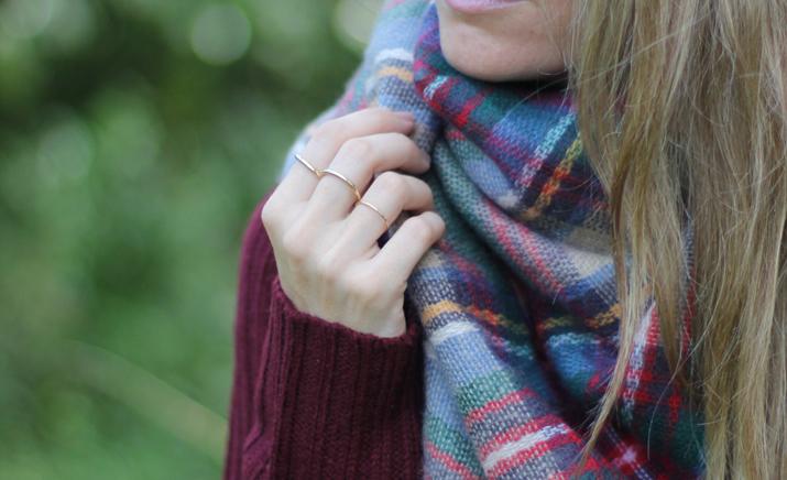 Tartan scarf Zara blogger (3)