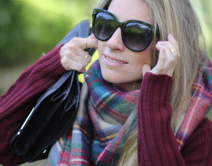 Tartan scarf Zara blogger (5)
