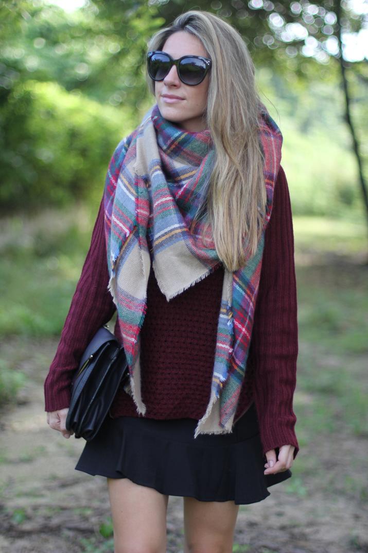 Zara tartan scarf blog
