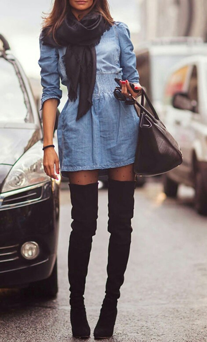Tigh high boots inspiration