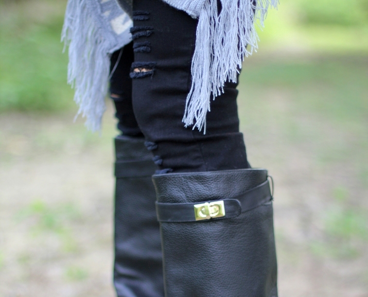 givenchy style boots outfit blogger