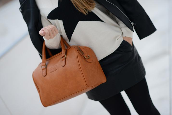 leather skirt blogger