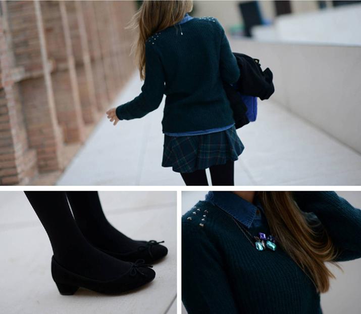 outfit tartan skirt