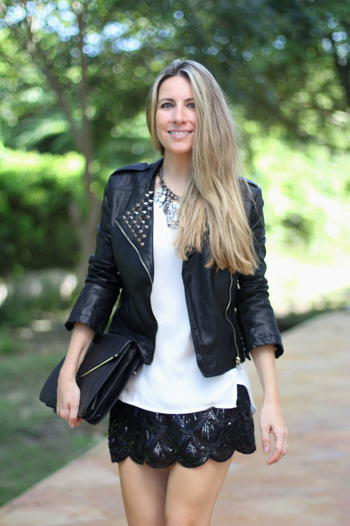 sequins skirt fashion blogger (2)