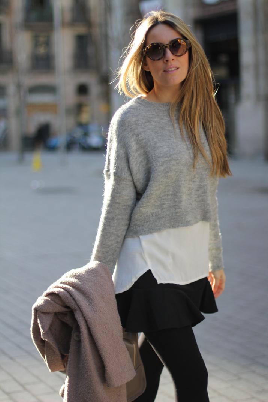 layered lookBarcelona street style monica sors