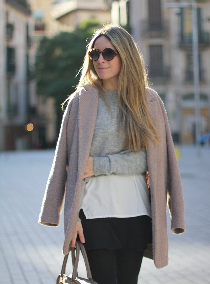 layered look fashion blogger Barcelona