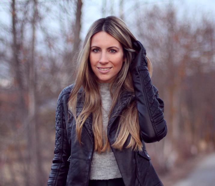 Leather jacket blogger (1)