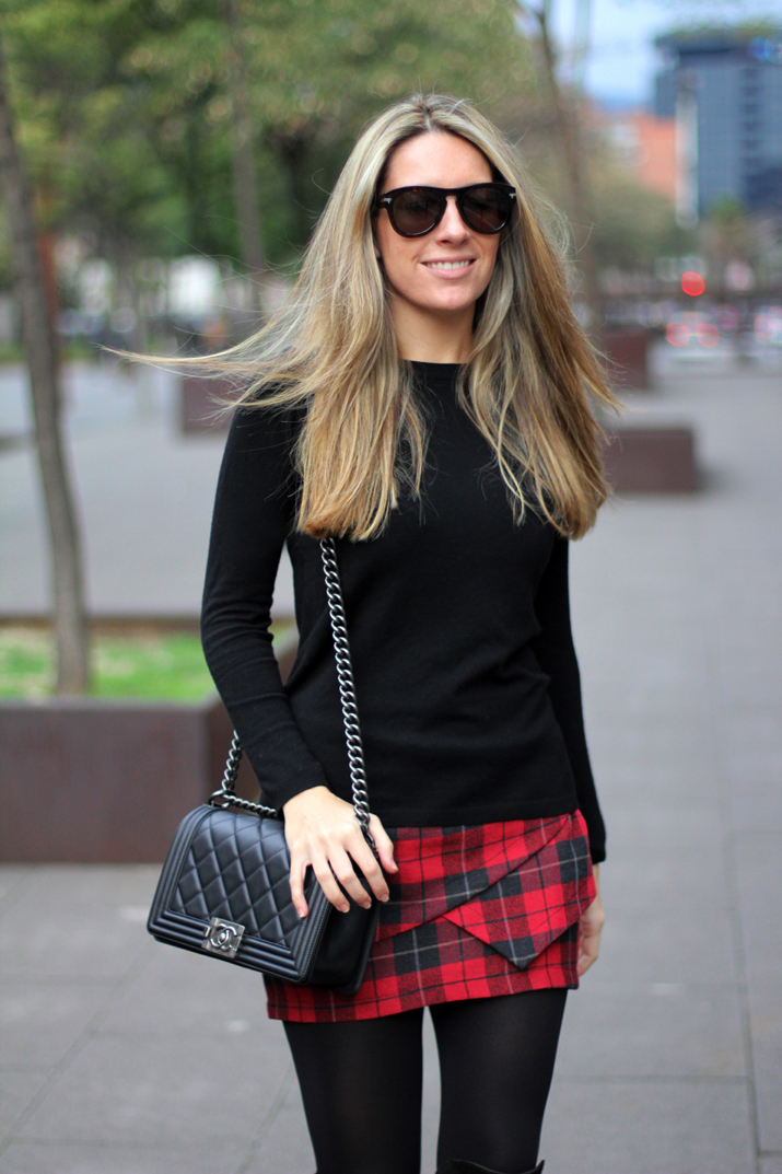 Tartan skirt Buylevard Mes Voyages a Paris (1)