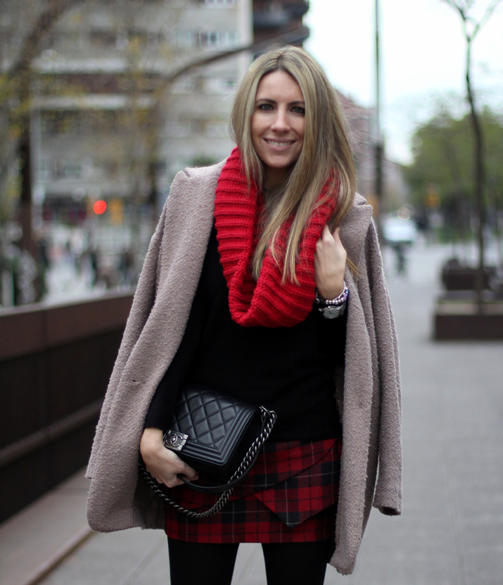 Tartan skirt Buylevard Mes Voyages a Paris (2)