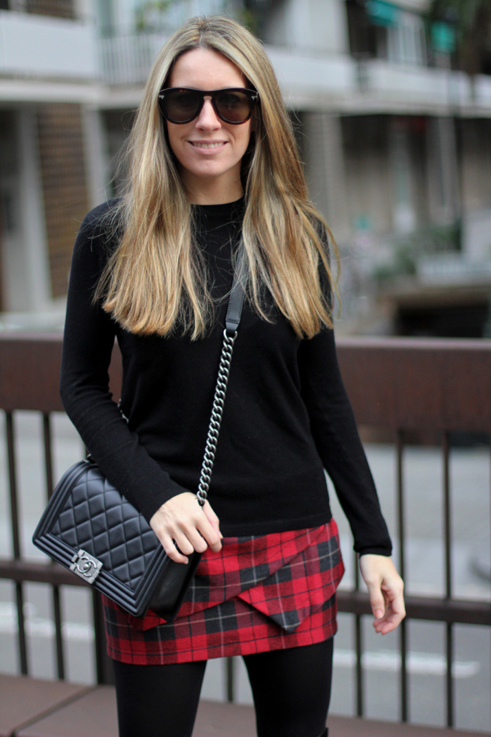 Tartan skirt Buylevard Mes Voyages a Paris (4)