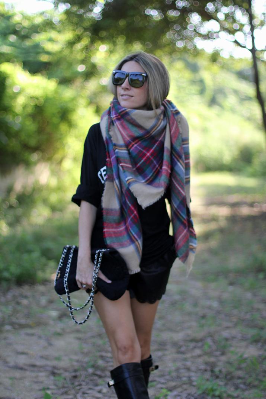 Zara tartan scarf blogger (2)