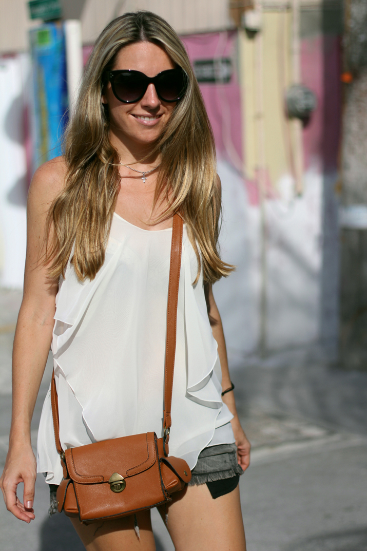 outfit with shorts fashion blog Mes Voyages a Paris