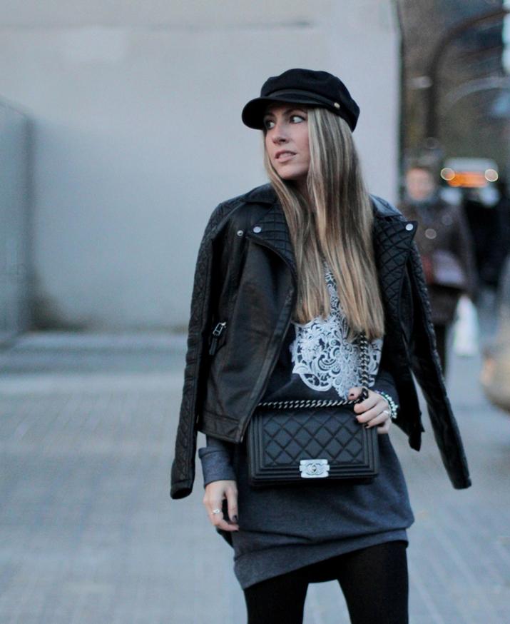 Boy_Chanel-bag-Sweat_dress-Baker_boy_cap-fashion_blogger(25)