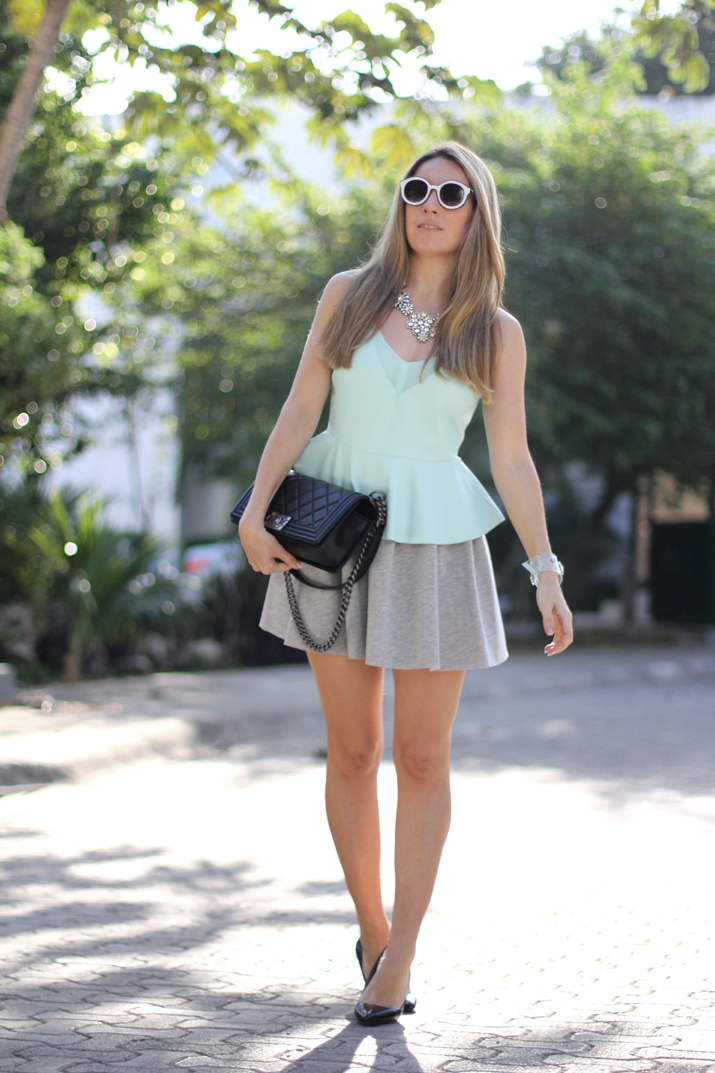Boy_Chanel-sweat_skirt_Bershka-leather_peplum_top-Mesvoyagesaparis_blog (8)