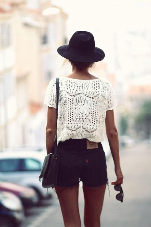 look de verano con shorts