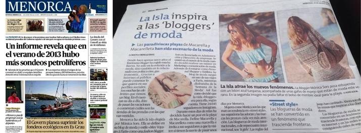 Es Diari Menorca 20 agosto 2014 blogger Monica Sors - copia1