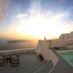 SANTORINI SUNSET FROM OUR PLACE