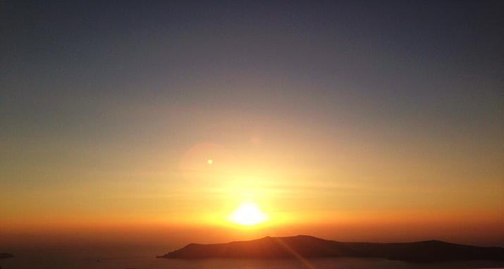 Santorini puesta de sol1