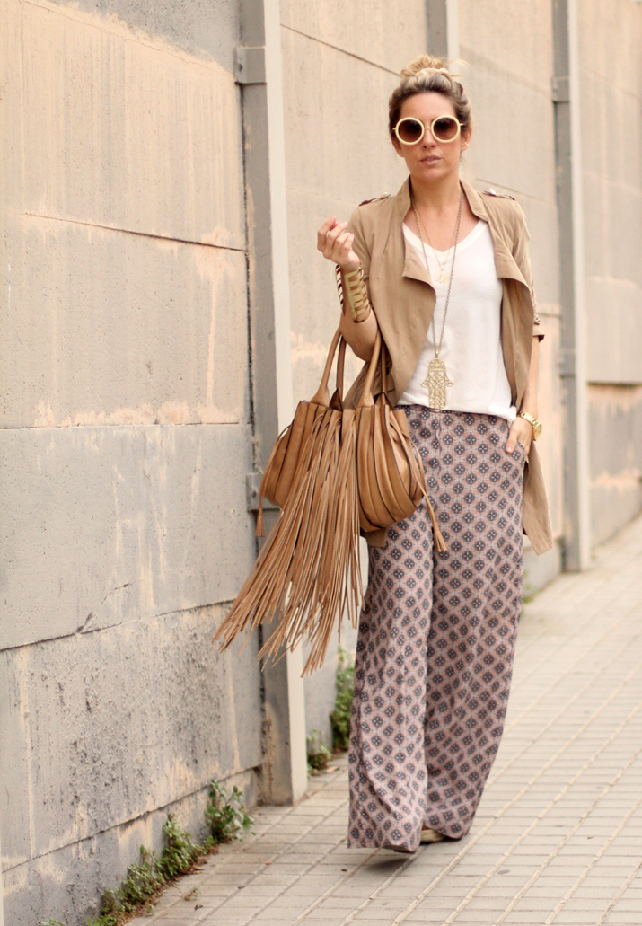 Palazzo Pants Trench Boho Chic Mes Voyages A Paris
