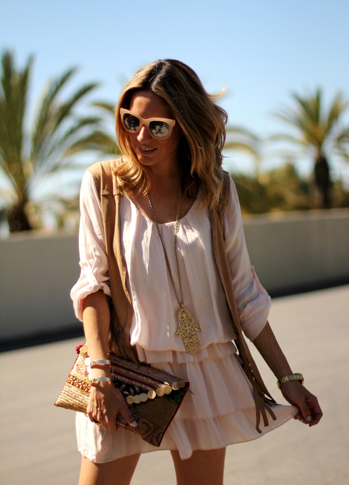Look boho chic blogger