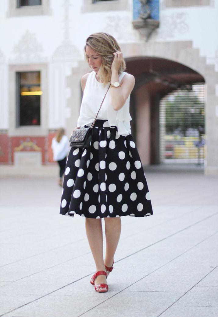 falda-lunares-blogger-Barcelona (1)2