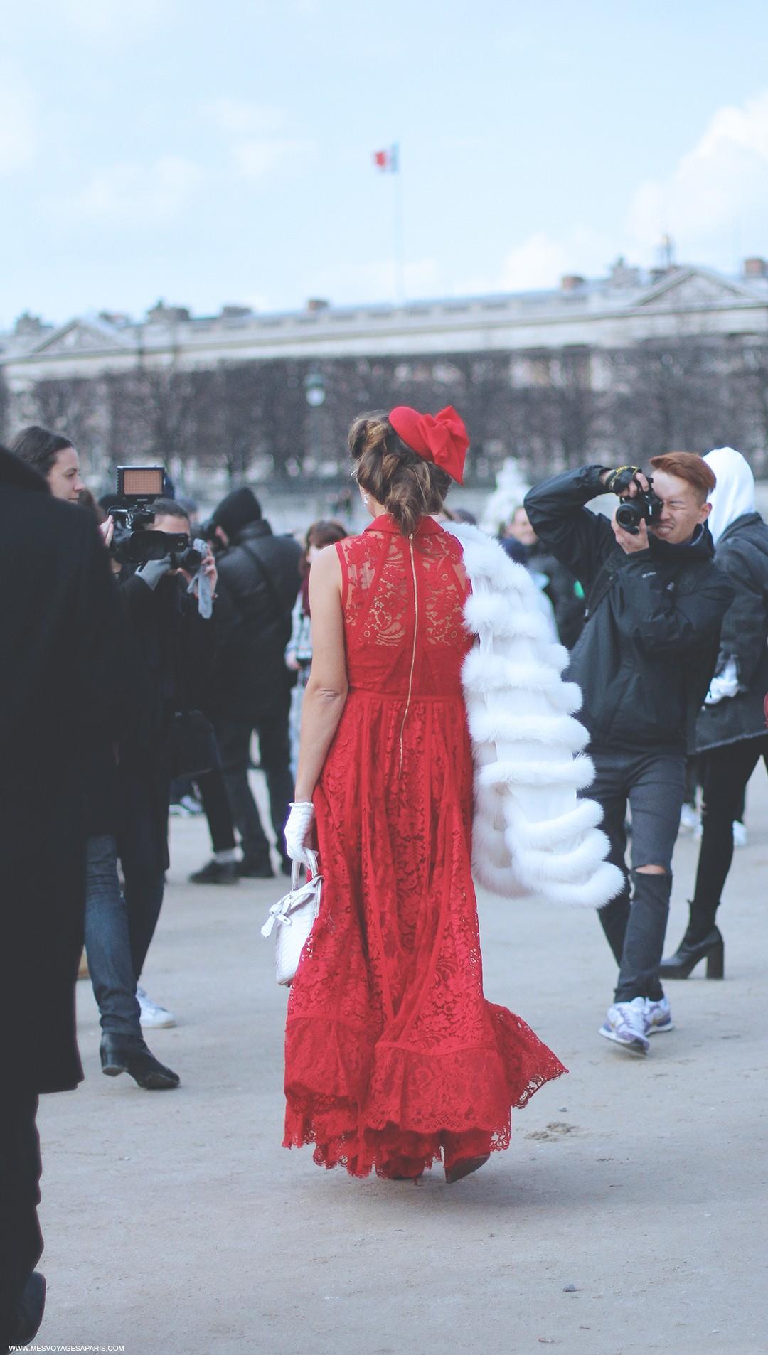red-dress-paris-fashion-week-2016